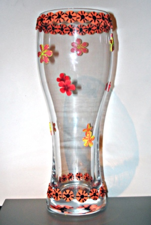 Украсить вазу своими руками фото